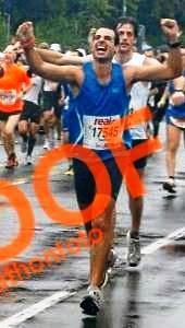 נתן מסיים את מרתון ברלין 2010